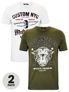 very-man-2-pack-motor-graphic-t-shirts-greygreen