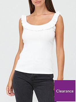 v-by-very-ruffle-vest-off-white
