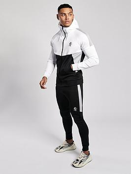 Gym King Gym King Chiba Full Zip Hoodie Tracksuit - White/Black/Grey Picture