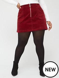 v-by-very-curve-cord-zip-detail-a-line-skirt-burgundy