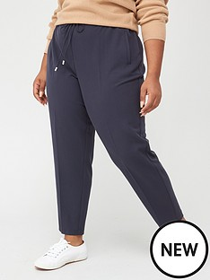 v-by-very-curve-elasticated-waist-straight-leg-trouser-navy