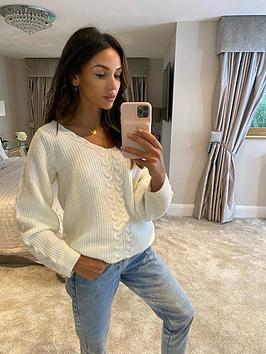 michelle-keegan-off-the-shoulder-knitted-jumper-cream