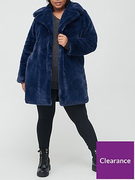 v-by-very-curve-faux-fur-longline-coat-midnight