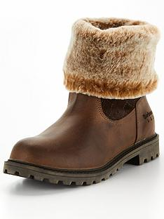 barbour-hareshaw-leather-faux-fur-trim-boot-brown