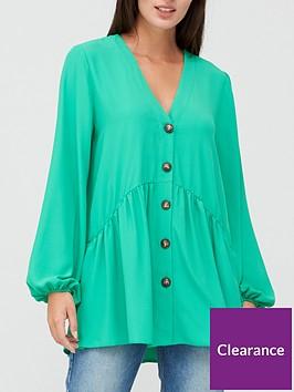 v-by-very-button-through-tunic-green