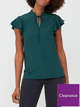 v-by-very-tie-necknbspblouse-green