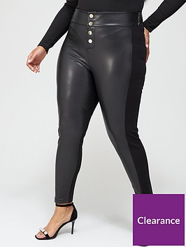 v-by-very-curve-pu-andnbspponte-stretch-button-detail-legging-black