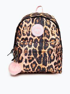 hype-girls-blushnbsppom-pom-backpack-leopardnbsp