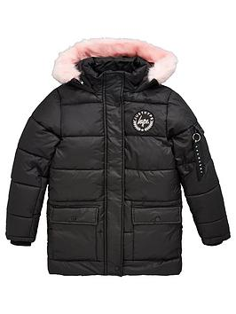 hype-girls-pink-trim-explorer-jacket-black
