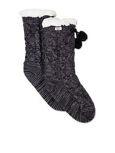 ugg-pom-pom-fleece-lined-crew-socks-black