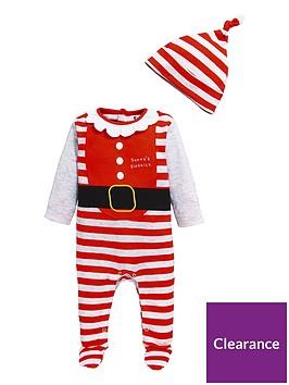 v-by-very-baby-christmas-unisex-sleepsuit-ampnbsphat-set-multi