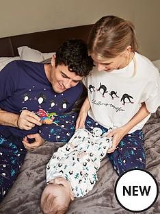 v-by-very-unisex-babynbspfamily-christmas-penguin-sleepsuit-white