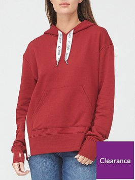 hugo-dreali-side-stripe-hoodie-red