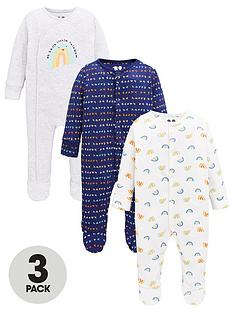 v-by-very-baby-3-pack-rainbow-sleepsuits-multi