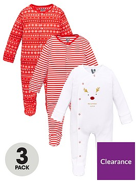 v-by-very-unisex-babynbsp3-pack-christmas-sleepsuits-multi