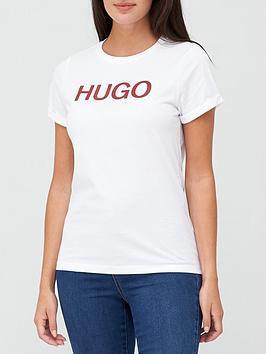 hugo-logo-slim-t-shirt-white