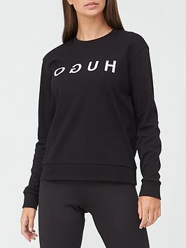 hugo-logo-sweat-top-black