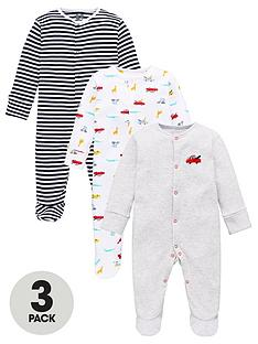 v-by-very-baby-boys-3-pack-transport-stripe-sleepsuits-multi