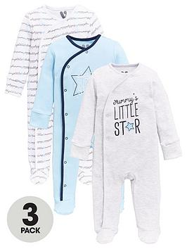 v-by-very-baby-boys-3-packnbspmummy-ampnbspdaddy-sleepsuit-multi