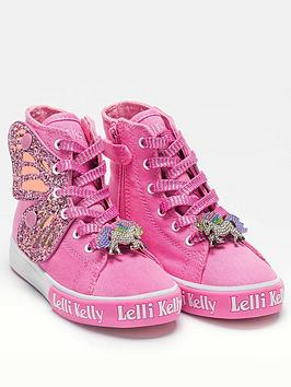Lelli Kelly Lelli Kelly Girls Wings High Top Trainer - Pink Picture