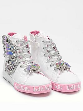 Lelli Kelly Lelli Kelly Girls Wings High Top Trainer - White/Silver Picture