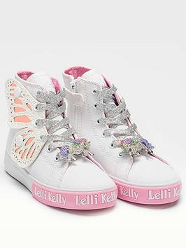 Lelli Kelly Lelli Kelly Girls Wings High Top Trainer - White Picture