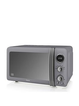 Swan  Retro Microwave - Grey