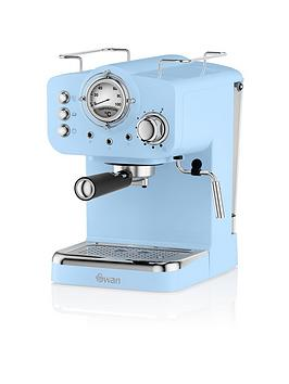 Swan   Retro Espresso Maker - Blue