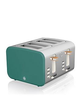 Swan Swan Nordic 4 Slice Toaster - Green Picture