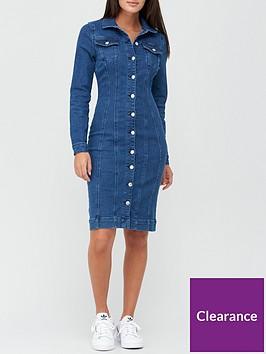 v-by-very-long-sleeve-denim-shirt-dress-mid-wash