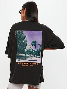 missguided-missguided-bad-influence-graphic-t-shirt-black