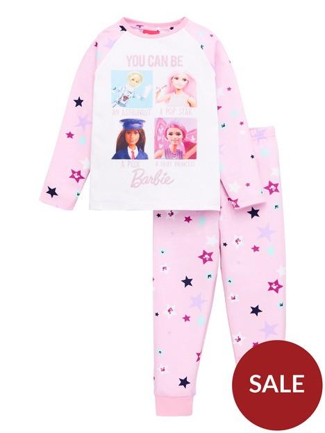 barbie-girlsnbspyou-can-be-anything-raglan-sleeve-pyjamas-pink