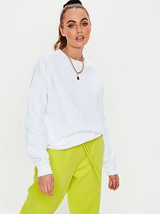 missguided-missguided-basic-oversized-sweat-top-white