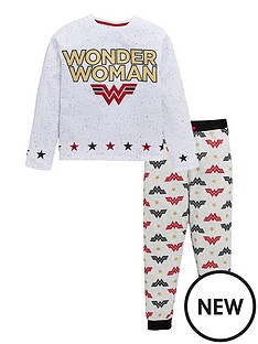 wonder-woman-girls-glitter-print-pjs-multi