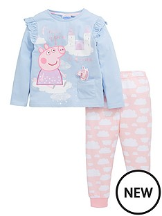 peppa-pig-girlsnbspwadded-unicorn-pjs-blue