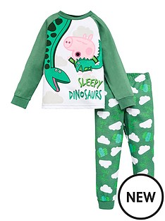 peppa-pig-boys-george-pig-sleepy-dinosaurs-raglan-sleeve-pjs-green