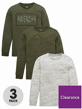 v-by-very-boys-3-pack-long-sleeve-t-shirts-khaki
