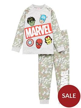 marvel-avengersnbspboys-camo-raglan-pyjamas-green