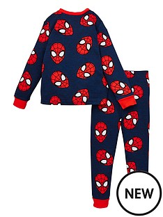 spiderman-boys-spiderman-all-over-print-long-sleeve-pjs-blue