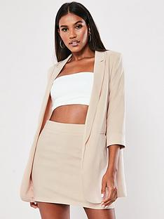 missguided-missguided-core-basic-blazer-stone