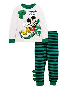 mickey-mouse-boysnbspdinosaur-pjs-with-dino-detail-green