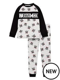 wwe-boysnbspwrestlemania-raglan-pyjamas-multi