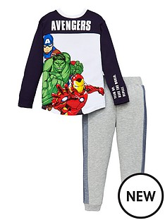 marvel-boysnbspavengers-2-piece-long-sleeve-t-shirt-and-jogger-set-navygrey