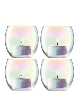 lsa-international-pearl-tealight-holders-ndash-set-of-4