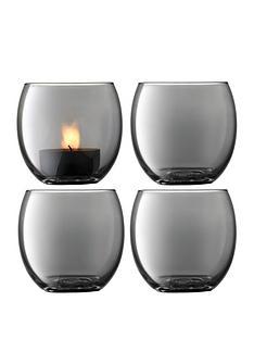 lsa-international-zinc-tealight-holders-ndash-set-of-4