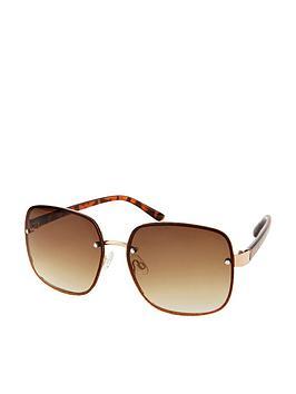 Accessorize Accessorize Retro Wire Square Sunglasses - Red Picture