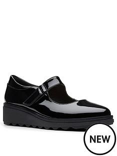 clarks-sharon-shore-low-wedge-shoe-black