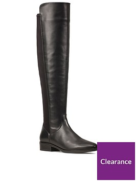 clarks-pure-caddy-leather-over-the-knee-boot-black