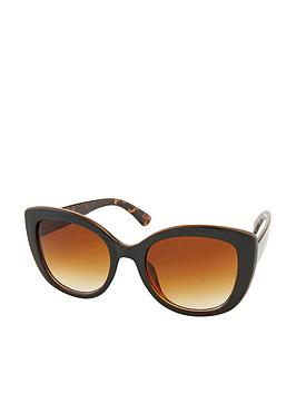 Accessorize Accessorize Tara Tortoiseshell Arm Oversized Sunglasses - Black Picture
