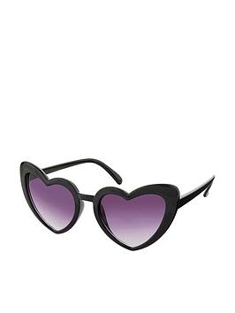 Accessorize   Heart Sunglasses - Black